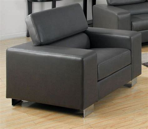 makri contemporary gray living room set with bonded makri gray bonded leather match living room set from