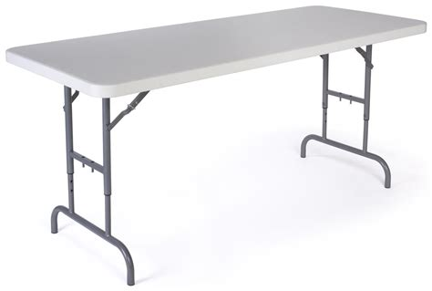 Adjustable Height Folding Table Adjustable Height Folding Table With Locking Legs 6 Foot