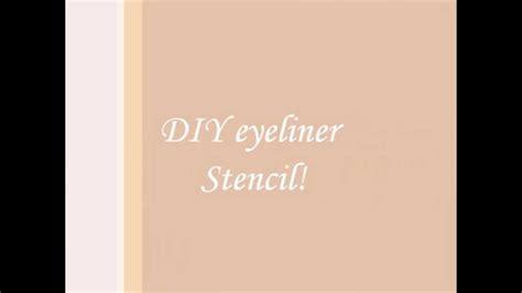 how to make a stencil template diy eyeliner stencil