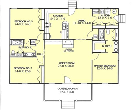 rectangle house plans one story country style house plans 1700 square foot home 1 story