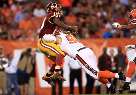 2015 robert griffin iii washington redskins cleveland browns vs washington quick halftime reax