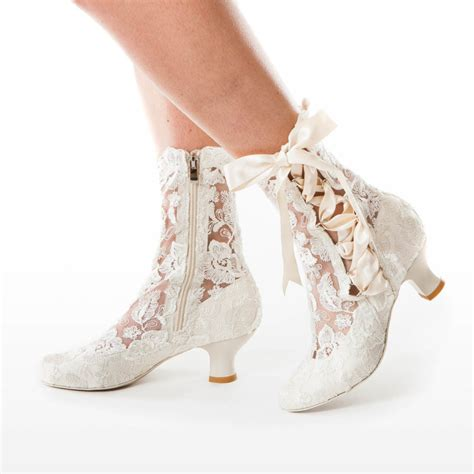 lizzie elliot ivory lace ankle boot house of elliot