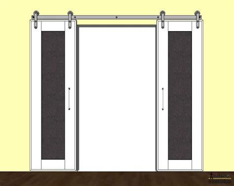 Sliding Barn Door Frame Remodelaholic Diy Sliding Doors With Chalkboard