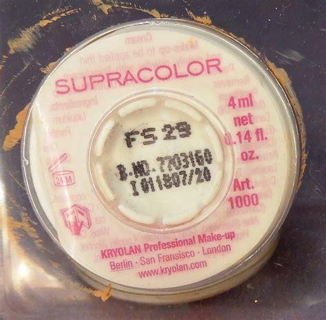 Kryolan Supracolor Foundation kryolan supracolor 12 concealer makeup palette mugeek