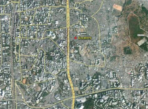 mumbai map satellite alta monte mumbai omkar realtors constructions