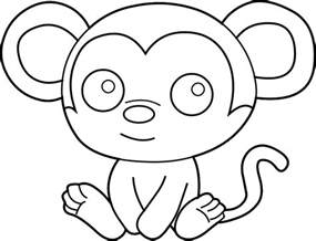 hanging monkey template free download clip art free