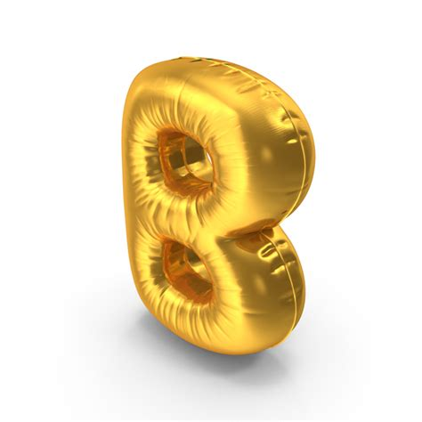 Gold Foil Balloon B gold foil balloon letter b png images psds for