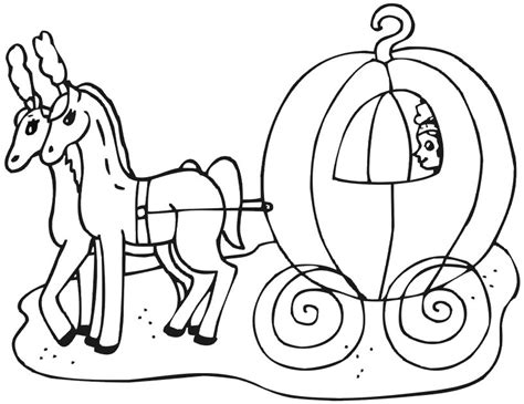 Cinderella Carriage Coloring Page free coloring pages of princess carriage