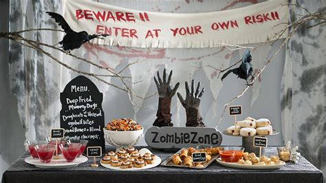 zombie themed birthday party image gallery zombie party