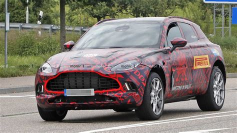 aston martin dbx spied  close  full production body