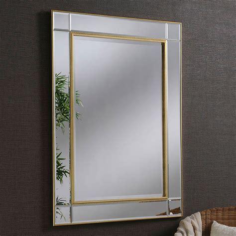 contemporary gold beveled wall mirror contemporary wall