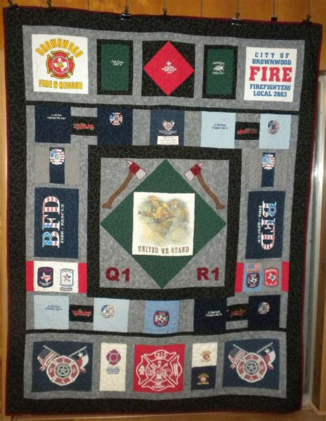 Fireman Quilt Pattern by Another Fireman Quilt Tshirt Quilts