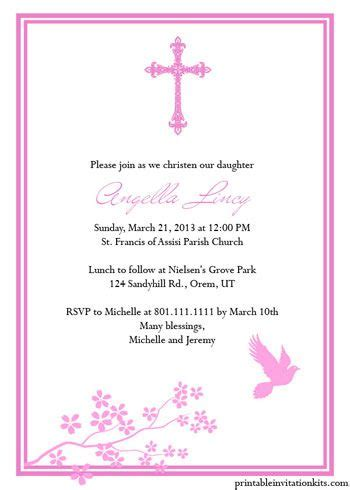 templates for baptism invitations christening invitation templates for baby boy and girl