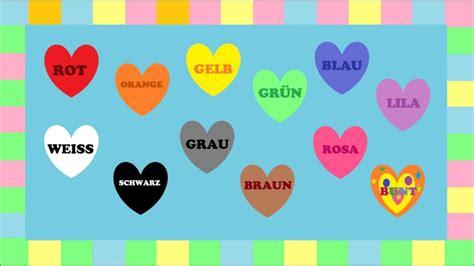 colors in german lernen farben ein spiel jeu de