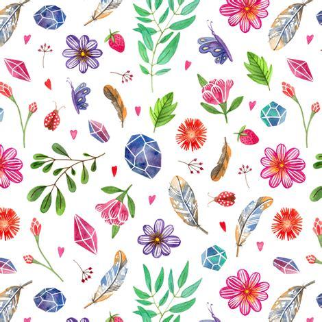 nature pattern fabric watercolor boho nature pattern fabric alenaganzhela