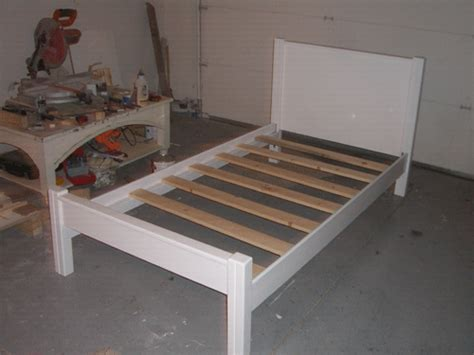diy twin bed frame building plans wooden  simple twin