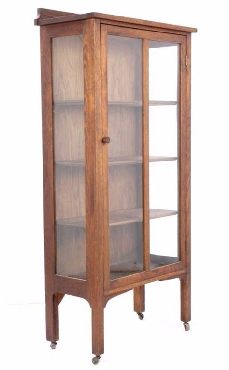 Oak Mission Style Curio Cabinet C 1910