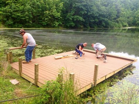boat dock diy diy floating docks floating dock on 3 acre private pond