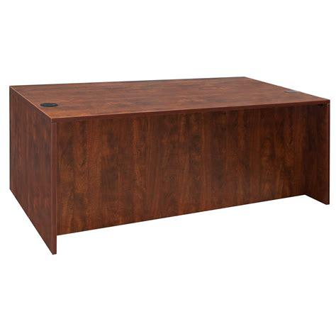 Everyday 36 215 72 Double Pedestal Laminate Desk Cherry Desk Cherry