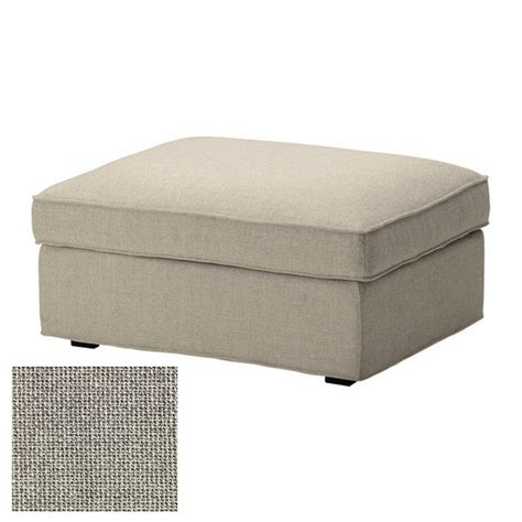 ikea kivik footstool slipcover ottoman cover teno light