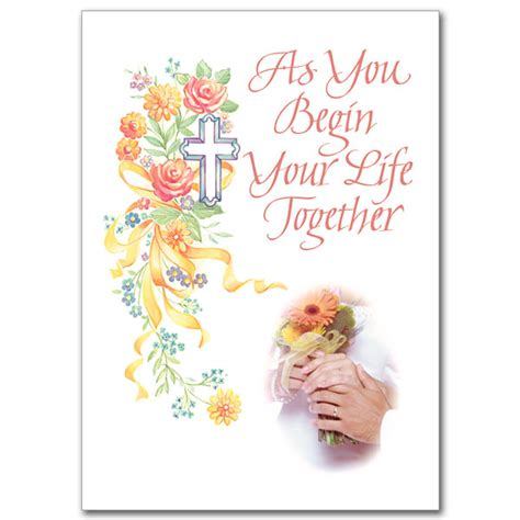 Congratulations On Your Wedding Bible Verses by As You Begin Your Together Wedding Congratulations Card