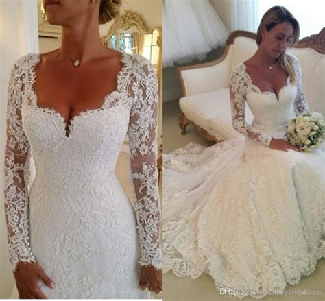 Informal White Wedding Dresses by 2016 Lace Wedding Dresses Vestidos De Noiva Sleeves