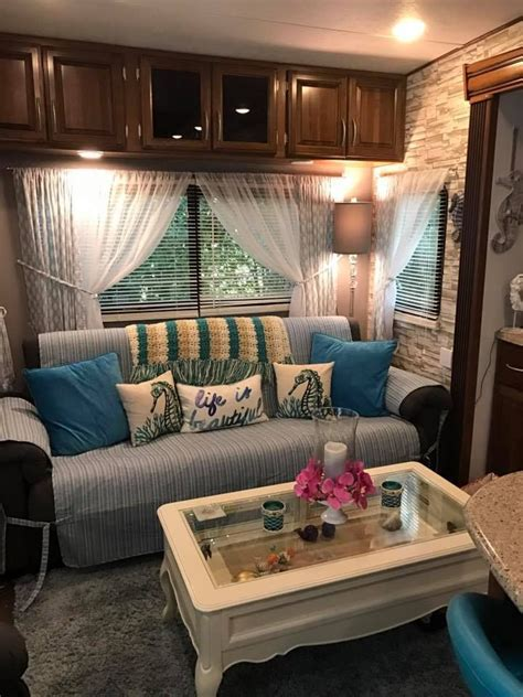 beach themed rv makeovers remodeled campers trailer