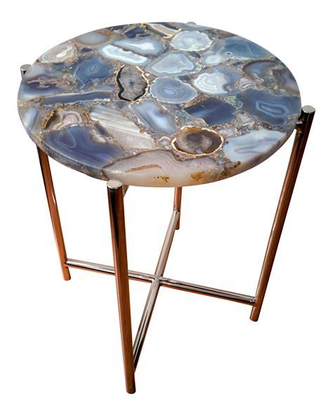 agate chrome side table chairish