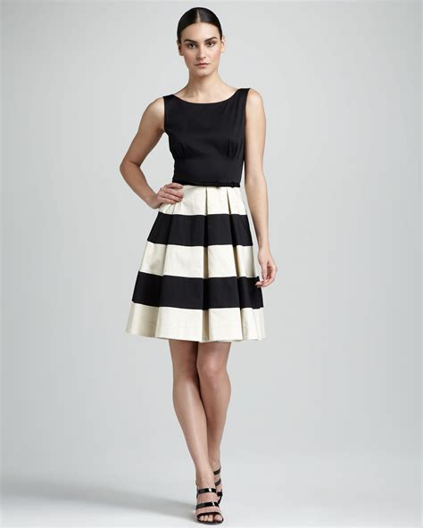 Celina Dress kate spade celina stripeskirt dress in black black bei lyst
