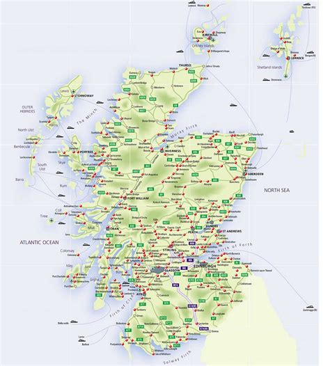 printable road maps uk roadmap of scotland scotland info guide