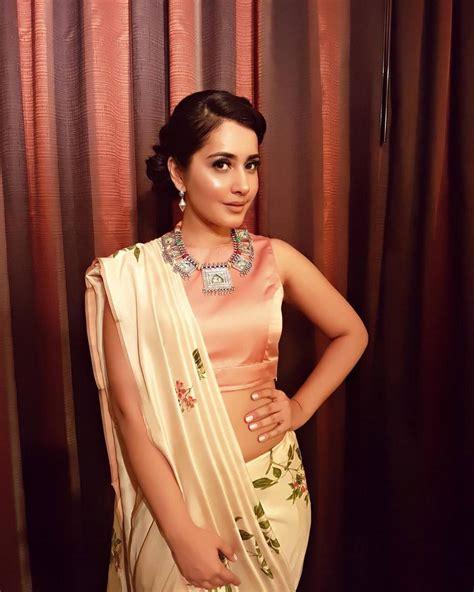 south actress rashi south indian actress rashi khanna hip navel in white saree