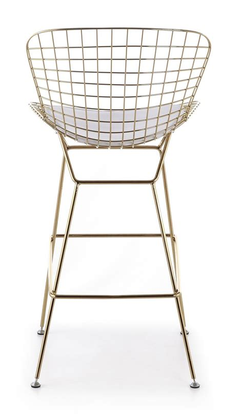 bertoia wire bar stool bertoia wire counter stool in gold finish bar counter stools