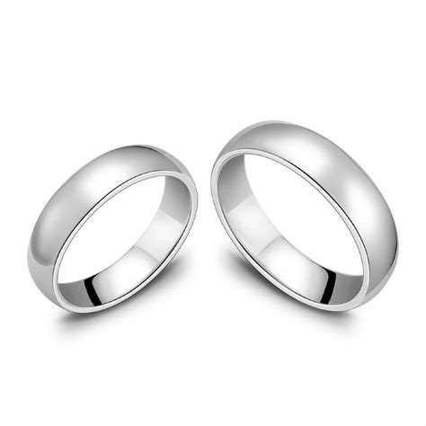 Blue Thinking Couple Rings 925 Sterling Silver Rings
