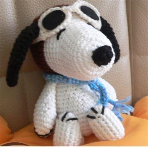 amigurumi snoopy pattern christmas amigurumi pilot snoopy puppy dog crochet by