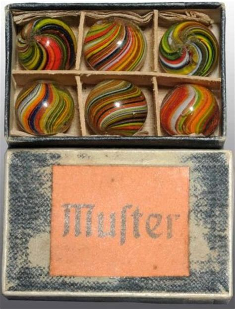 German Handmade Marbles - original boxes of german handmade marbles marbles galore