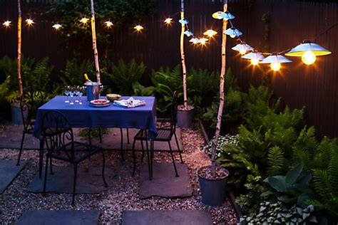 Hanging Lights For Patio Garden Lights Diy One