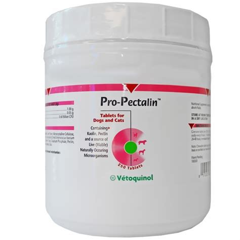 pro pectalin for dogs pro pectalin anti diarrheal tablets for dogs cats 250 tabs