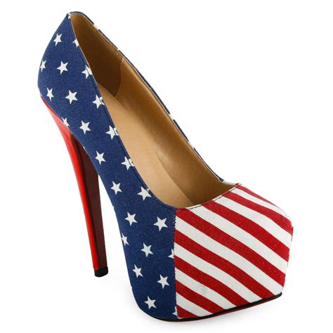 american flag slippers american flag concealed platform stilettos womens