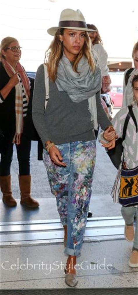 Jessica Alba Style And Fashion Rialto Rialto Hand Painted   shop rialto rialto hand painted vintage boyfriend jeans