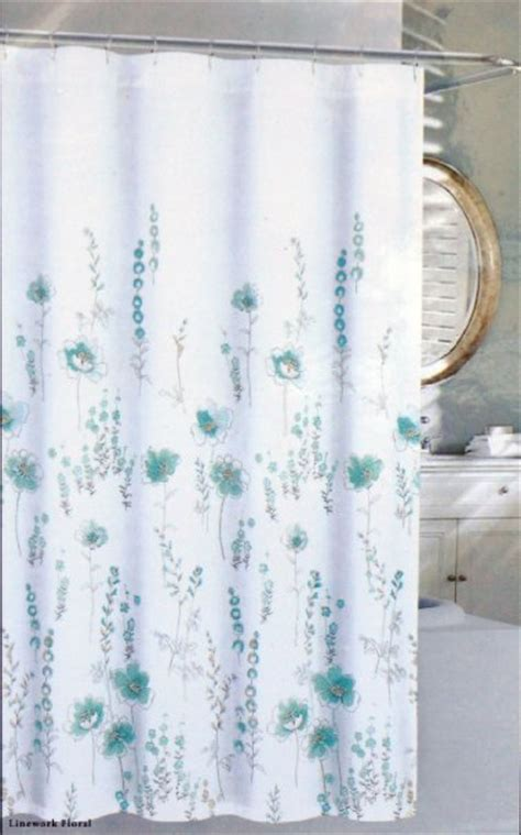 nicole miller shower curtains buy nicole miller fabric shower curtain white floral on