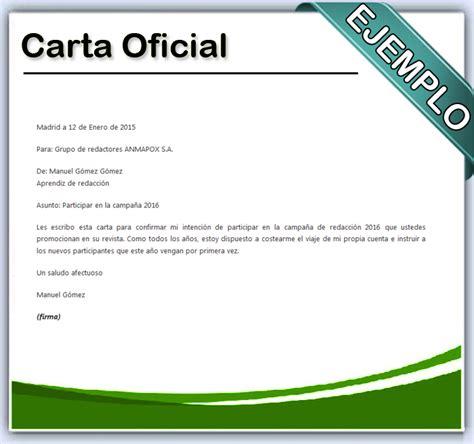 carta de oficial c 243 mo hacer una carta oficial en word
