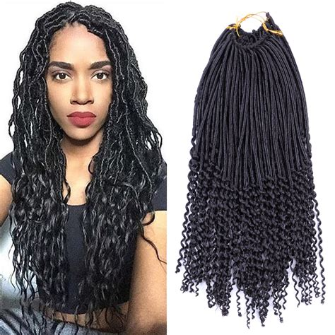 how to curl the ends of synthetic braids 1pcs crochet faux locs curly ends crochet dreads extension