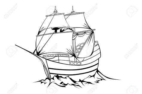 sailboat line drawing vector pirate ship line drawing black sailboat on white