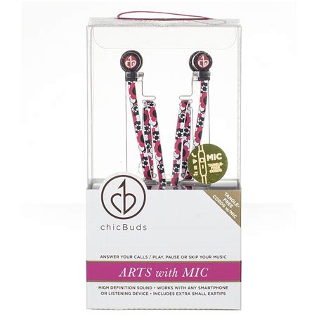 Chicbuds Arts Earbuds With Microphone Leandra chicbuds arts earbuds with microphone flora