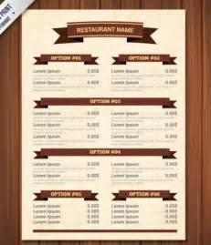 menu template psd free template for restaurant menu invitation template
