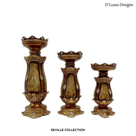 pictures of candlestick set for a hairstyle 3 piece set d lusso designs elegant handcrafted pillar