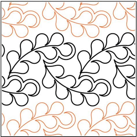 Pantograph Quilt Patterns by Flowing Feathers Quilting Pantograph Pattern By Lorien