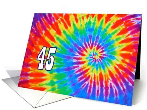 45 tie dye groovy happy birthday card 704651