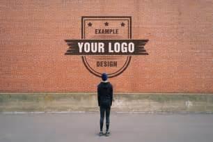 logo graffiti on brick wall effect mediamodifier