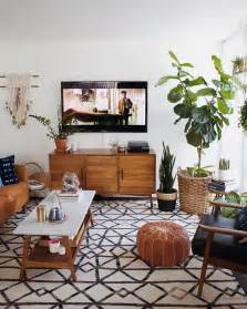 mid century modern living room ideas restful mid century design with modern decor using antique coffee table also indoor plants